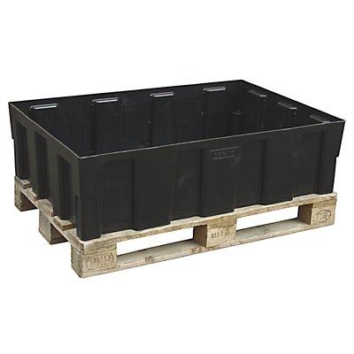 CEMO PE-Auffangwanne für 200-l-Fässer, Tragfähigkeit 600 kg - mit Wanne