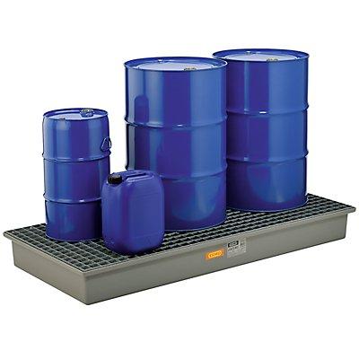 CEMO Boden-Auffangwanne - 3 x 200-Liter-Fässer, ohne Zulassung