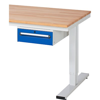 RAU Unterbau-Schubladencontainer, BxT 490 x 600 mm, für Tisch-Serie 150, 300, Schubladenhöhe 1 x 150 mm