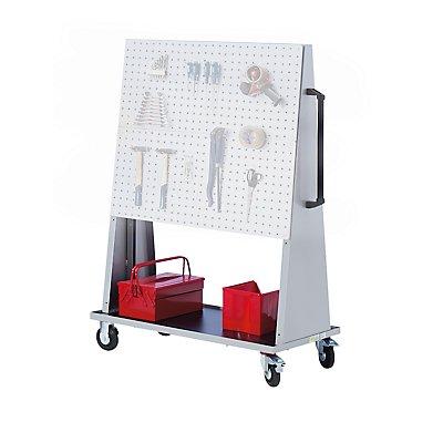 EUROKRAFT Werkstattgerät, modular - für 3 Platten je Seite, Grundmodell ohne Platten