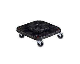 Kunststoff-Fahrgestell für Mehrzweck-Behälter - 4 Lenkrollen - Kunststoff, grau