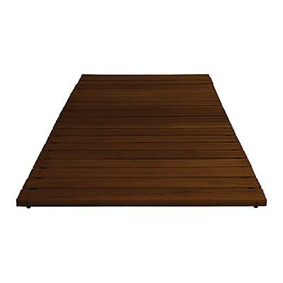 Holzlaufrost dunkel gebeizt, pro lfd. m, ohne Anschrägung