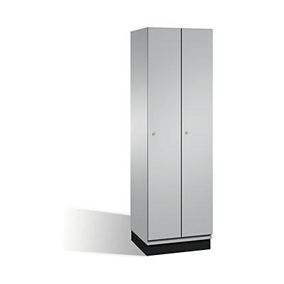 CP CAMBIO Garderobenschrank mit Stahl-Türen - 2 Abteile, Breite 600 mm