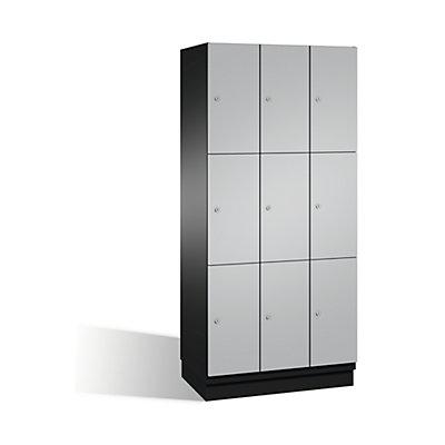 CP CAMBIO Fächerschrank mit Stahl-Türen - 9 Fächer, Breite 900 mm
