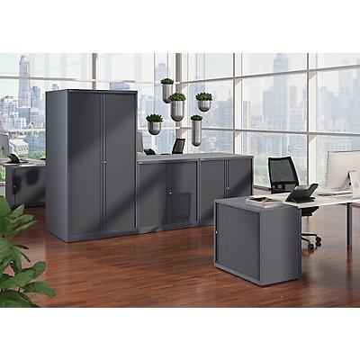 BISLEY Rollladenschrank ESSENTIALS, HxBxT 1000 x 1000 x 470 mm, 1 Fachboden