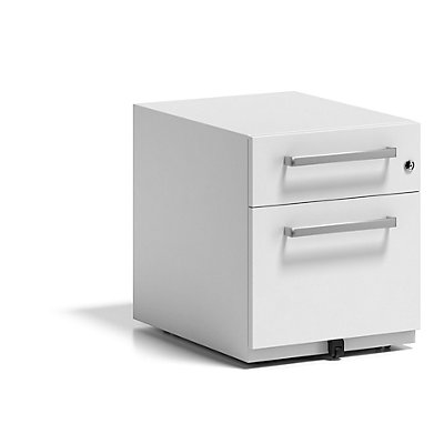 BISLEY Rollcontainer Note™, mit 1 Hängeregistratur, 1 Universalschublade, HxBxT 495 x 420 x 565 mm, mit Griff