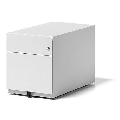 BISLEY Rollcontainer Note™, mit 1 Hängeregistratur, 1 Universalschublade, HxBxT 495 x 420 x 775 mm, mit Griffleiste