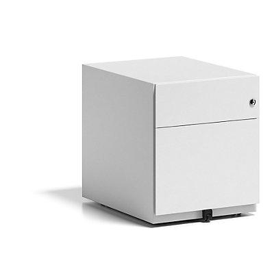 BISLEY Rollcontainer Note™, mit 1 Hängeregistratur, 1 Universalschublade - HxB 495 x 420 mm, ohne Top