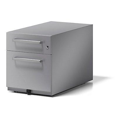 BISLEY Rollcontainer Note™, mit 1 Hängeregistratur, 1 Universalschublade, HxBxT 495 x 420 x 775 mm, mit Griff
