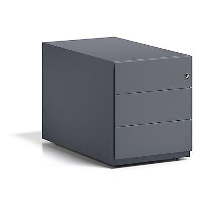 BISLEY Rollcontainer Note™, mit 3 Universalschubladen, HxBxT 495 x 420 x 775 mm, mit Griffleiste