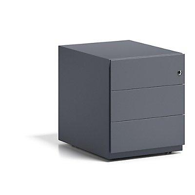 Bisley Rollcontainer Note™ - 3 Universalschubladen, HxBxT 495x420x565 mm