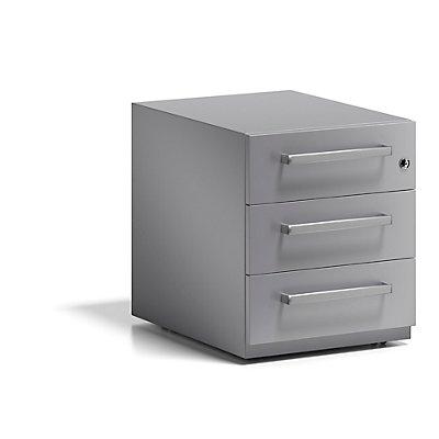BISLEY Rollcontainer Note™, mit 3 Universalschubladen, HxBxT 495 x 420 x 565 mm, mit Griff