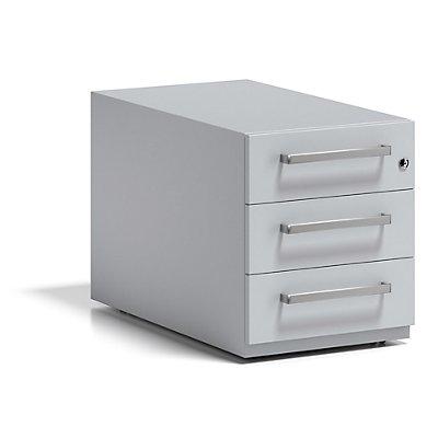 BISLEY Rollcontainer Note™, mit 3 Universalschubladen, HxBxT 495 x 420 x 775 mm, mit Griff