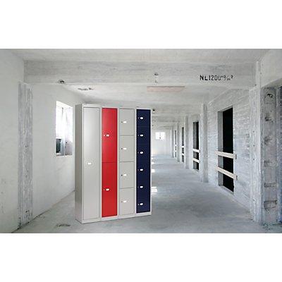 Bisley OFFICE Garderobenschrank - 1 Abteil mit Hutboden, 1 Kleiderhaken