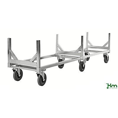 Kongamek Profi-Langgutwagen, Tragfähigkeit 800 kg, mit Deichsel galvanisch verzinkt