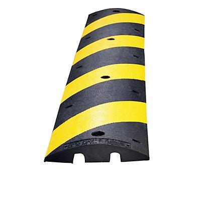 MORAVIA Fahrbahnschwelle aus Recycling-Kautschuk - gelb / schwarz