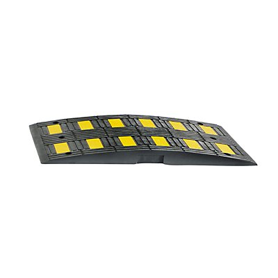 MORAVIA Fahrbahnschwelle aus Kautschuk - gelb / schwarz