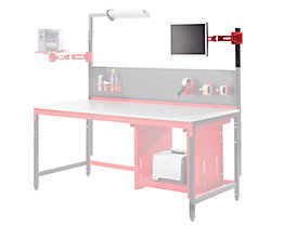 LEGRO Schwenkarm für TFT, 3fach - HxLxB 150 x 150 x 600 mm - inkl. Adapter für Holmbefestigung