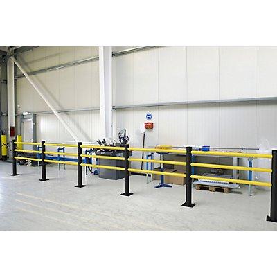 Sicherheitsgeländer, 3 Holme mit individuellem Zuschnitt von 350 bis 1533 mm
