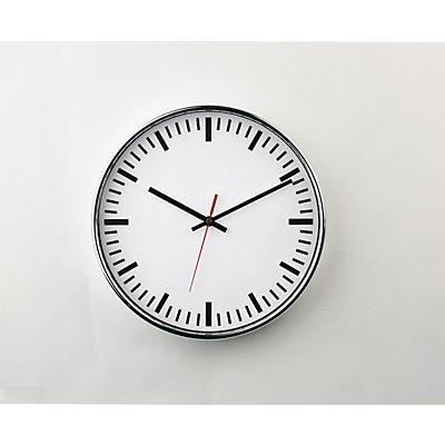Funkwanduhr, Ø 300 mm, mit Strichen Zifferblatt weiß