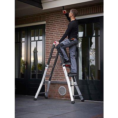 Teleskop-Klappleiter, verwendbar als Steh- oder Anlegeleiter