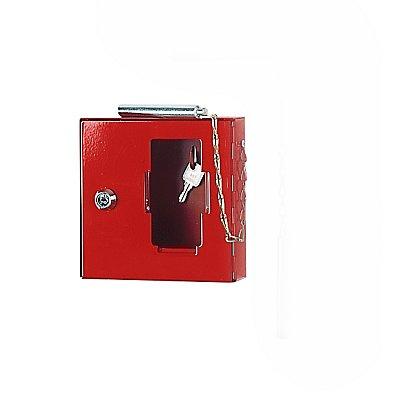 ISS Notschlüsselkasten mit Glasscheibe - mit Klöppel zum Einschlagen