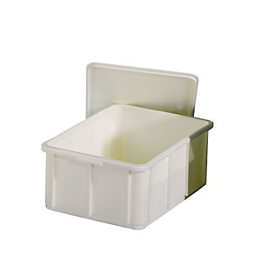 utz Stapelbehälter aus Polypropylen - Inhalt 40 l, Außenmaße LxBxH 600 x 400 x 235 mm
