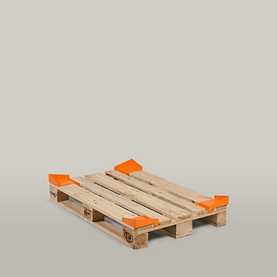 Gleitschutzecke, orange, VE 20 Stk LxBxH 190 x 165 x 60 mm