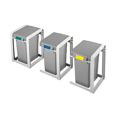 Hailo Wertstoffsammlersystem, flexibel, Volumen 1 x 19 l, BxHxT 310 x 450 x 395 mm Basismodul, klein