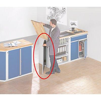 Pendeltür für Material- und Werkzeugausgabetheke - Stahlblech, grau - HxB 960 x 730 mm