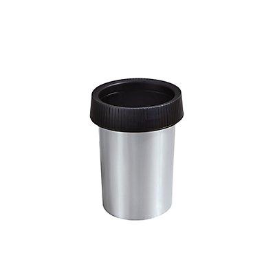 Rothopro Papierkorb in Metalloptik - Inhalt 17 l, runde Einwurföffnung - Ø 320 mm