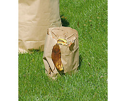 Sacs pour déchets biodégradables - en papier, pour collecte de déchets biodégradables - capacité 12 l, h x l x p 215 x 150 x 360 mm, marron, lot de 100