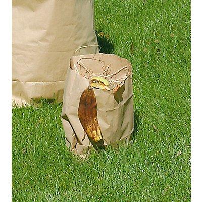 Biomüll-Säcke - aus Papier zum Sammeln von kompostierbaren Abfällen - Inhalt 12 l, LxBxH 215 x 150 x 360 mm, braun, VE 100 Stk