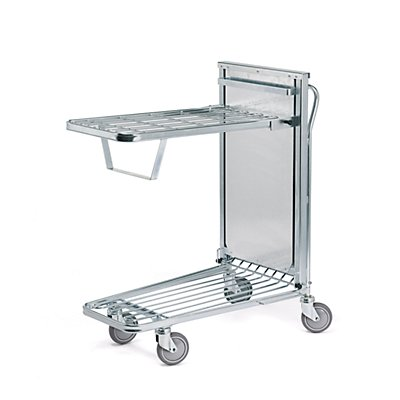 Kongamek Einkaufswagen, verzinkt - LxBxH 960 x 525 x 1030 mm, Tragfähigkeit 300 kg