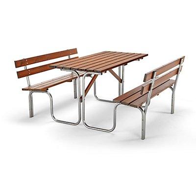 Bank-Tisch-Kombination - Tisch und 2 Sitzbänke - Gesamt-LxT 1500 x 1850 mm