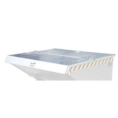 Deckel, verzinkt, für Behälter-Größe 0,9 m³ zweiseitig zu öffnen