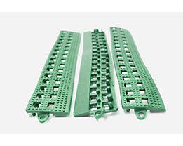 Lisière de plancher Flexi - avec latte de liaison, lot de 3 - vert