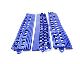 Lisière de plancher Flexi - avec latte de liaison, lot de 3 - bleu