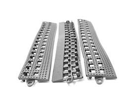 COBA Randleiste für Flexi-Deck - mit Verbindungsleiste, VE 3 Stk - grau