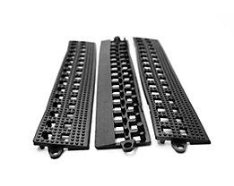 COBA Randleiste für Flexi-Deck - mit Verbindungsleiste, VE 3 Stk - schwarz