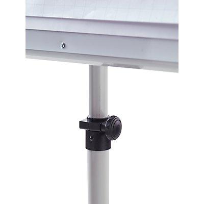 Flipchart-Set inkl. Zubehör, höhenverstellbar, 1700 – 2000 mm mit stabilem Rundfuß Ø 640 mm, 5 Lenkrollen
