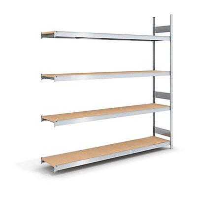 hofe Großfach-Steckregal mit Spanplatten - Höhe 2500 mm, Breite 2250 (2 x 1125) mm, Feldlast 1750 kg