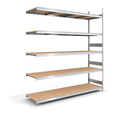 hofe Großfach-Steckregal mit Spanplatten - Höhe 3000 mm, Breite 2500 (2 x 1250) mm, Feldlast 2000 kg