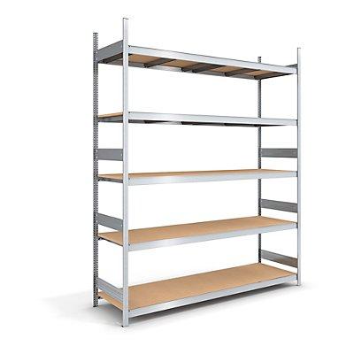 hofe Großfach-Steckregal mit Spanplatten - Höhe 3000 mm, Breite 2250 (2 x 1125) mm, Feldlast 2000 kg