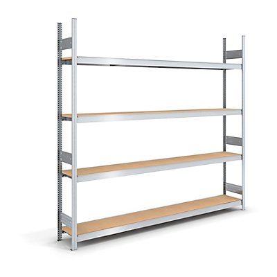hofe Großfach-Steckregal mit Spanplatten - Höhe 2500 mm, Breite 2500 (2 x 1250) mm, Feldlast 1750 kg