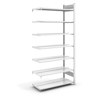 hofe Akten-Steckregal, RAL 7035 - Regalhöhe 2350 mm, doppelseitig
