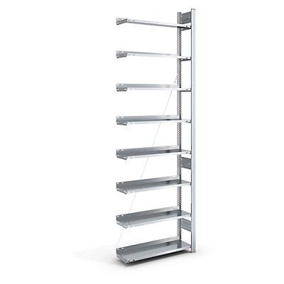 hofe Akten-Steckregal, verzinkt - Regalhöhe 2700 mm, einseitig