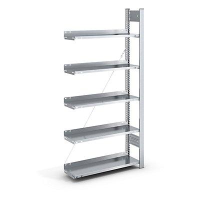 hofe Akten-Steckregal, verzinkt - Regalhöhe 1750 mm, einseitig