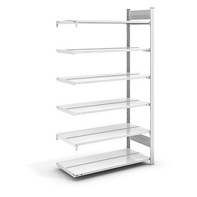 hofe Akten-Steckregal, RAL 7035 - Regalhöhe 2000 mm, doppelseitig