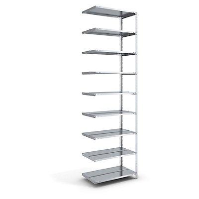 Akten-Schraubregal, verzinkt - Regalhöhe 2900 mm, doppelseitig